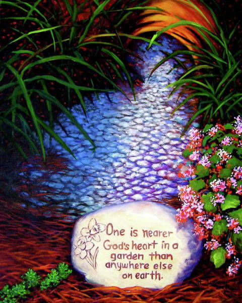 Painting - Garden Wisdom, Nearer by Jeanette Jarmon