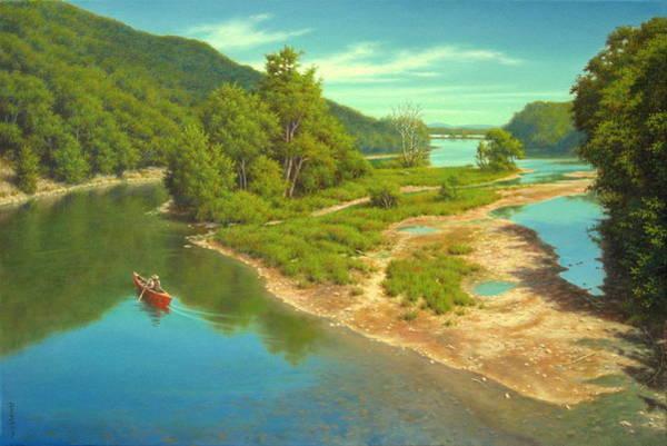 Wall Art - Painting - Nearing The Hudson by Barry DeBaun
