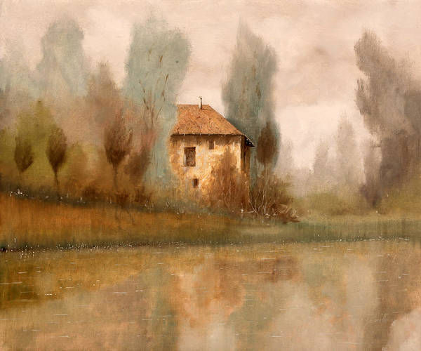 Foggy Wall Art - Painting - Nebbiolina Autunnale by Guido Borelli
