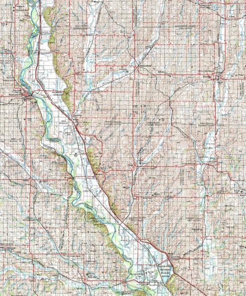 Nebraska Digital Art - Nebraska City 1955 Old Map by Drawspots Illustrations