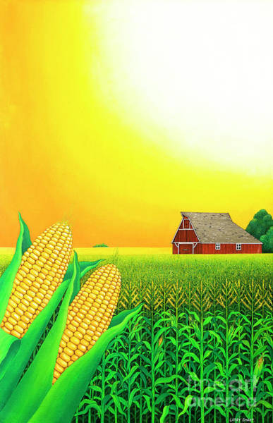 Veggies Painting - Nebraska Cornfield by Larry Smart