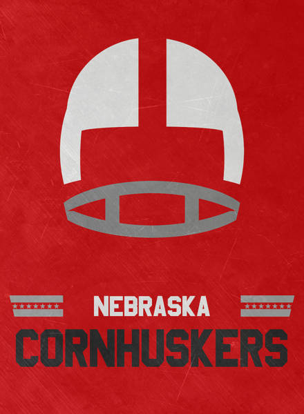 Wall Art - Mixed Media - Nebraska Cornhuskers Vintage Art by Joe Hamilton
