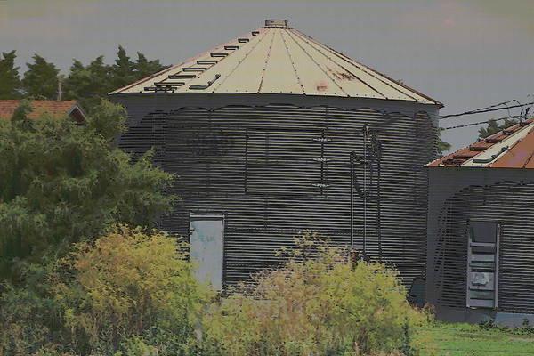 Photograph - Nebraska Farm Life - Large Silo by Colleen Cornelius