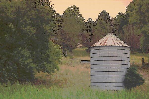 Photograph - Nebraska Farm Life - Small Silo by Colleen Cornelius