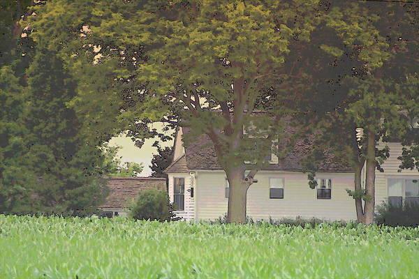 Photograph - Nebraska Farm Life - White Farmhouse by Colleen Cornelius