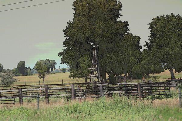 Photograph - Nebraska Farm Life - Wood Rail Around Pasture by Colleen Cornelius