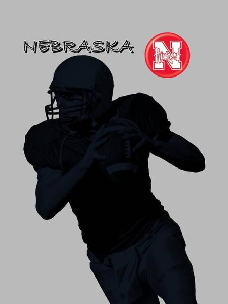 Digital Art - Nebraska Football by David Dehner