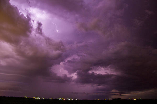 Photograph - Nebraska Night Thunderstorm Beast 001 by NebraskaSC