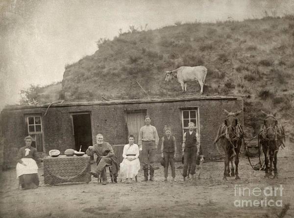 Photograph - Nebraska: Settlers, C1886 by Granger