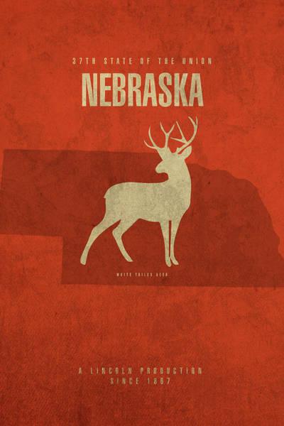 Wall Art - Mixed Media - Nebraska State Facts Minimalist Movie Poster Art by Design Turnpike