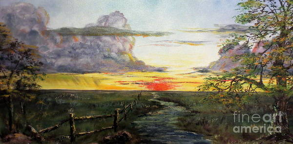 Wall Art - Painting - Nebraska Sunset by Lee Piper
