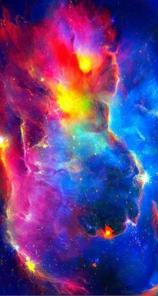 Star Cluster Painting - Nebula 1 by Celestial Images