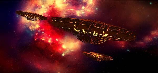 Ufo Digital Art - Nebula Rising By Raphael Terra by Raphael Terra