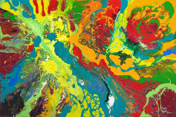 Painting - Nebula by Sally Trace