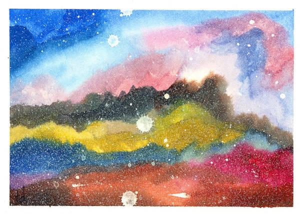 Space Mixed Media - Nebula by Tonya Doughty