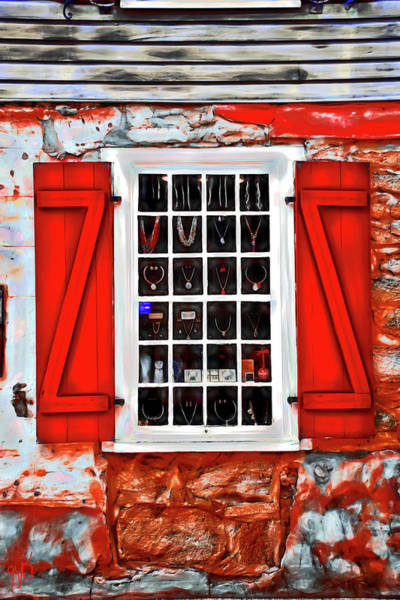 Photograph - Necklaces In A Window by Gina O'Brien