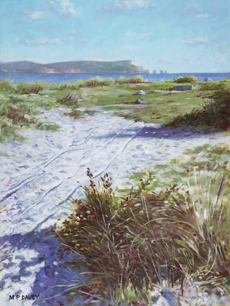 Painting - Needles From Hengistbury Head by Martin Davey