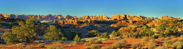 Photograph - Needles Sunrise Panorama by Greg Norrell