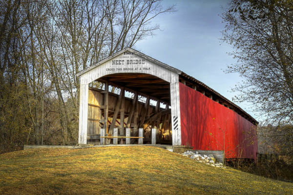 Photograph - Neet Covered Bridge by Jack R Perry