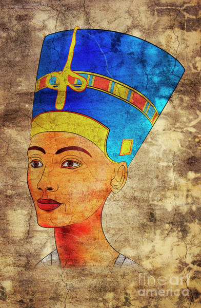 Wall Art - Digital Art - Nefertiti by Michal Boubin