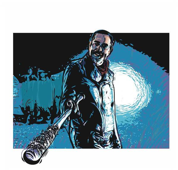 Wall Art - Digital Art - Negan by Antonio Romero
