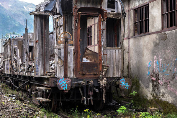 Wall Art - Photograph - Neglected Train And Warehouse In The Abandoned Canfranc International Railway Station by RicardMN Photography