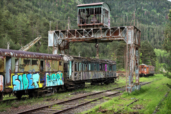 Wall Art - Photograph - Neglected Train In The Abandoned Canfranc International Railway Station by RicardMN Photography