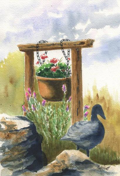 Potted Plant Painting - Neighbor Don by Marsha Elliott