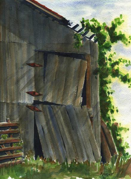Wall Art - Painting - Neighbor Dons Old Barn 3 by Marsha Elliott
