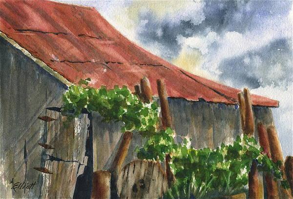 Wall Art - Painting - Neighbor Don's Old Barn by Marsha Elliott