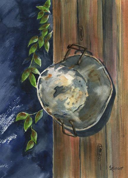 Wall Art - Painting - Neighbor Dons Old Dented Kettle by Marsha Elliott