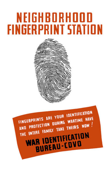 Wwii Mixed Media - Neighborhood Fingerprint Station by War Is Hell Store