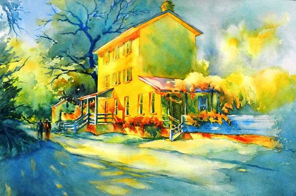 Townscape Wall Art - Painting - Neighborhood Friends by Virgil Carter