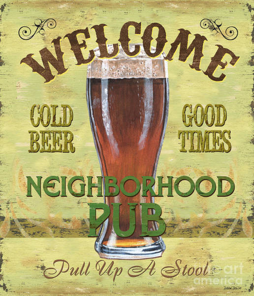 Barley Painting - Neighborhood Pub by Debbie DeWitt