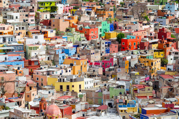 Neighbourhood. Guanajuato Mexico. Art Print