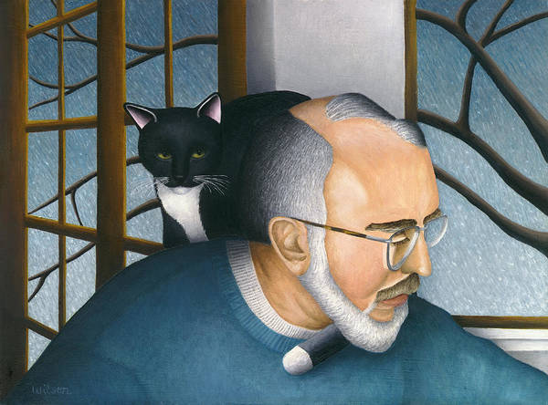 Wall Art - Painting - Neil And Cat Lucy by Carol Wilson