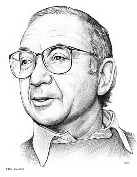 Drawing - Neil Simon by Greg Joens