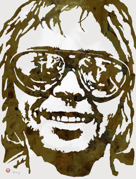 Toronto Drawing - Neil Young Pop  Stylised Art Sketch Poster by Kim Wang