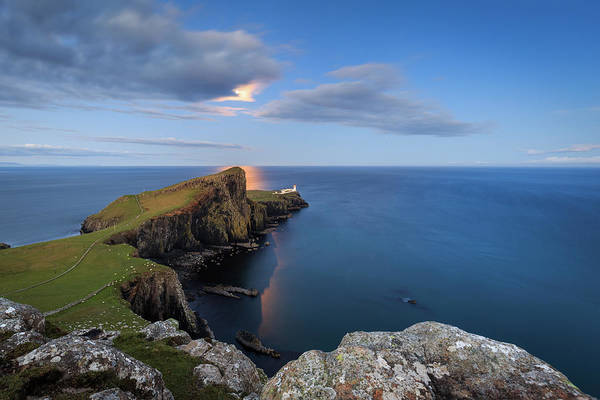 Moonscape Photograph - Neist Point Under The Moonlight by Davorin Mance