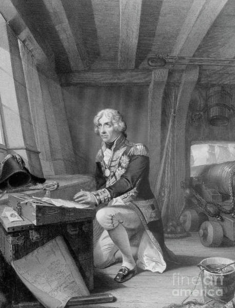 Wall Art - Drawing - Nelson At Prayer by English School