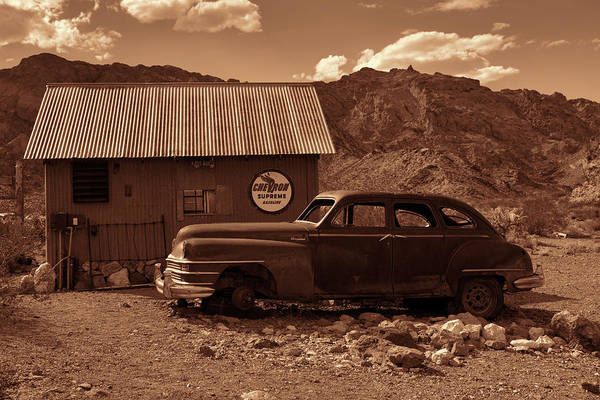 Photograph - Nelson Chrysler - Sepia by Kristia Adams