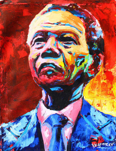 Painting - Nelson Mandela 3 by Evans Yegon