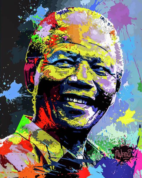 Johannesburg Wall Art - Digital Art - Nelson Mandela Madiba by Anthony Mwangi