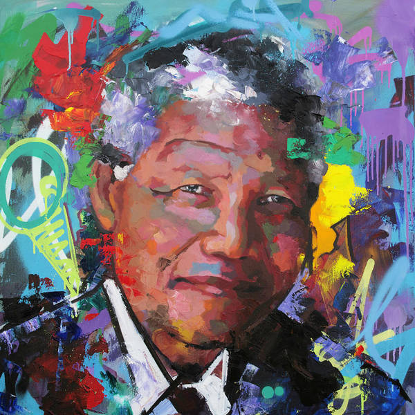 Wall Art - Painting - Nelson Mandela Vi by Richard Day