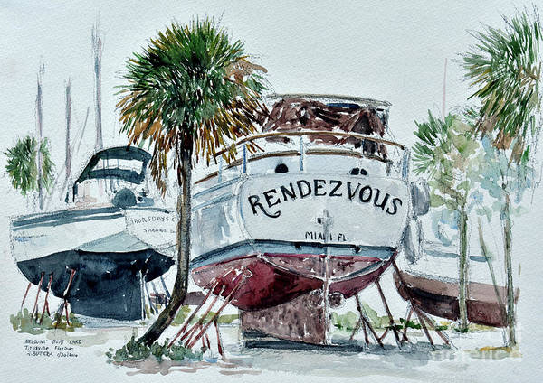 Wall Art - Painting - Nelson's Boatyard, Titusville, Florida by Anthony Butera