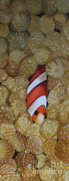Clownfish Painting - Nemo Hiding - Orange Clownfish by Christiane Schulze Art And Photography