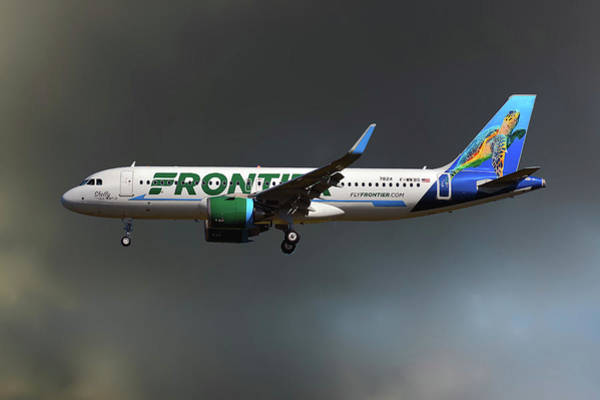 Frontier Photograph - Neo Frontier Airbus A320 by Smart Aviation
