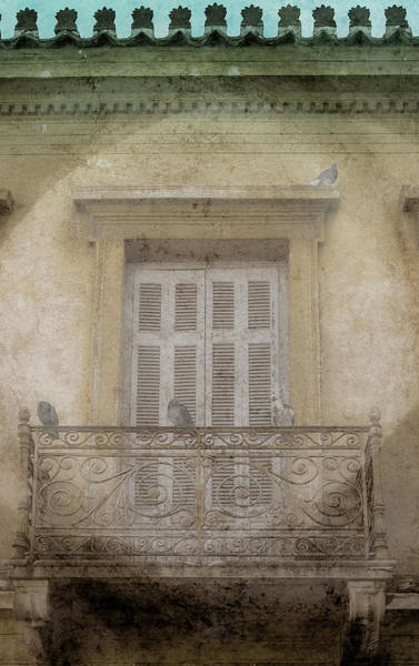 Photograph - Athens, Greece - Neoclassical Balcony by Mark Forte