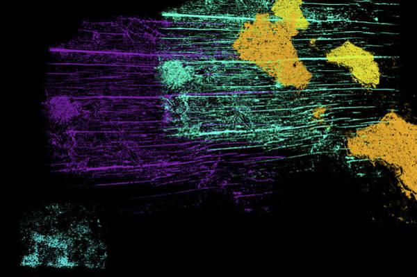 Digital Art - Neon Abstract 7 by Jenny Rainbow
