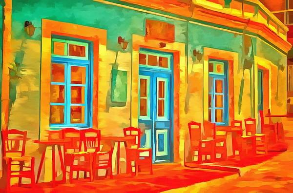 Wall Art - Painting - neon Cafe by Harry Warrick